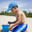 Toddler on the beach — Stock Photo