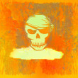 Skull Pirate - retro grunge card — Stock Photo #11150653