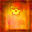 Skull Pirate - retro grunge card — Stock Photo #11150700
