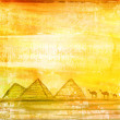 Old paper with pyramids giza , raster — Stock Photo