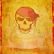 Skull Pirate - retro grunge card , raster — Stock Photo #11157956