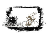 Cycling Grunge Poster — Stock Vector