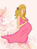 Beautiful pregnant girl — Stock Vector