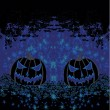 Broken halloween pumpkin on grunge background vector illustrati - Imagen vectorial