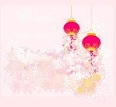 китайская новогодняя открытка — Cтоковый вектор
