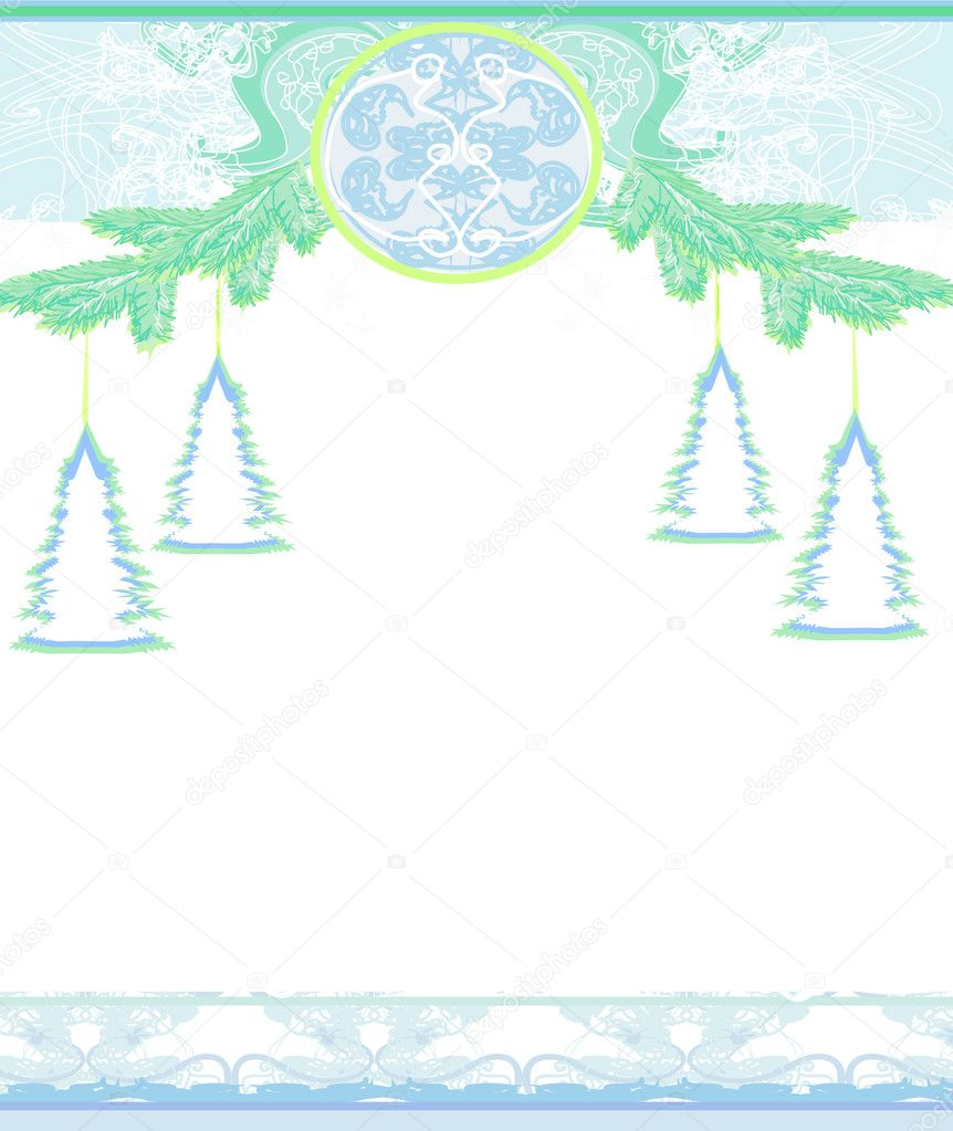 Christmas Framework style card   #11941491
