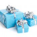colorfull presente presente com fitas brilhantes isoladas — Fotografia Stock  #11079941