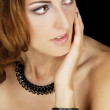 Portrait of beautiful woman with elegance jewellery — Stock Photo