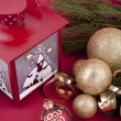 Beautiful christmas decoration in gold and red color — Stock Photo #11918510