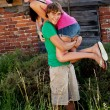 Young couple in love having fun in summer outdoor — Stock Photo #12081906
