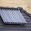 Ecological vacuum solar tube collectors — Stock fotografie #10934485