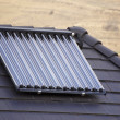 Ecological vacuum solar tube collectors — Stock Photo