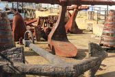 Oude vintage anker — Stockfoto