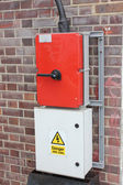 Industrial electrical supply box — ストック写真