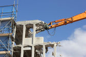 Demolishing of a building — Stock Photo