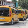 Taxi rank at Calis, Turkey - Stock Photo