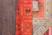 Colourful fabrics and textiles — Stock Photo
