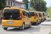 Taxi rank at Calis, Turkey — Stock Photo
