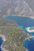 Blue lagoon at 0ludeniz, Turkey — Stock Photo