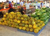 Fresh market produce of water melon — Stock Photo