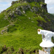 Castle Rock in the Valley of the Rocks near Lynmouth Devon — Stock Photo
