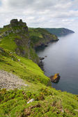 Beautiful Devon coastline of the Valley of Rocks near Lynton Devon — Stock Photo