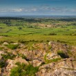 Stock Photo: View from top of Crook Peak in Somerset England