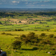 View from Crook Peak in Somerset England — Stock Photo