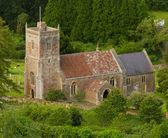 Compton Bishop church viewed from Crook Peak Somerset — Stock Photo