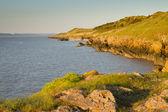 Punto de arena costa de arena bahía somerset weston — Foto de Stock