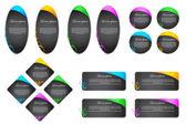 Klistermärke och etikett — Stockvektor