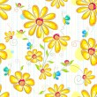 Royalty-Free Stock Vector Image: Flower Pattern