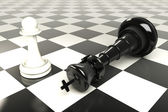 King and Pawn Chess Board — Stock Photo