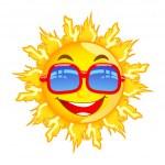 Sun with Sunglasses — Stock Vector