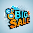 Big Sale Poster — Stock Vector