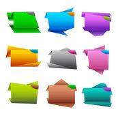 Etiqueta origamii — Vector de stock