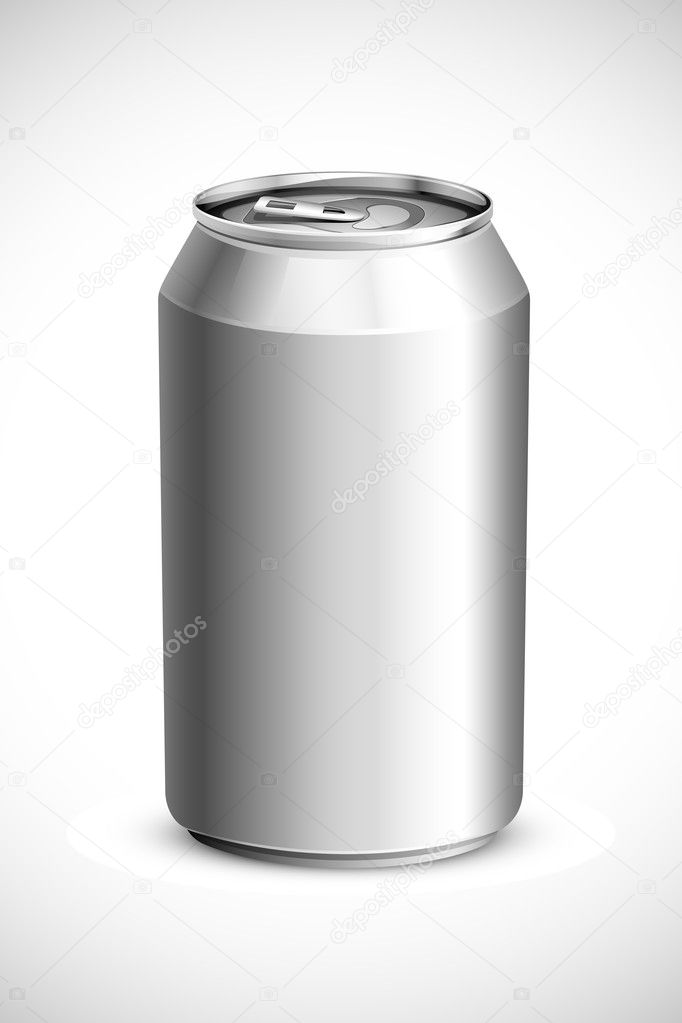 Vector illustration of empty drink can against white background — Imagens vectoriais em stock #11133067