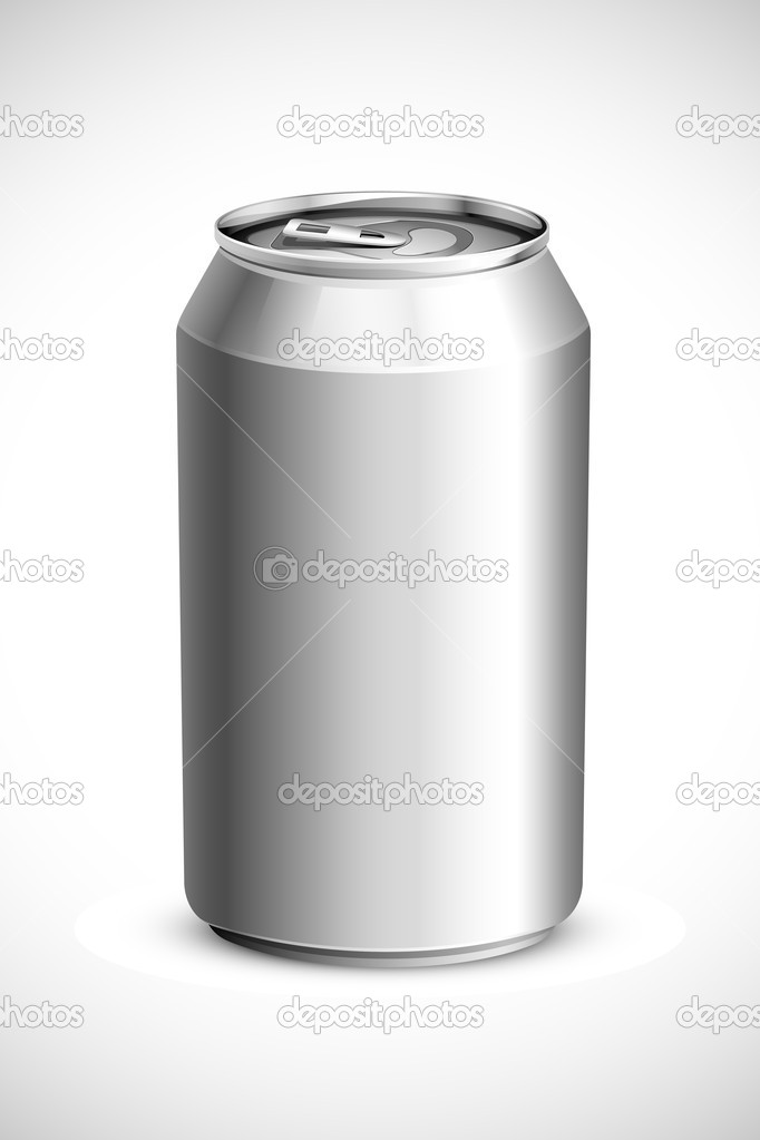 Vector illustration of empty drink can against white background — Stock vektor #11133067