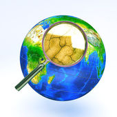 Dry Zoom in view of Earth — Stock Photo