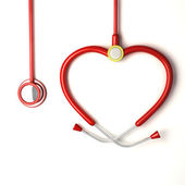 Heart shaped Stethoscope — Stock Photo