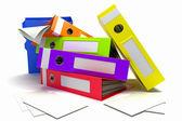 Colorful Box FIle — Stock Photo
