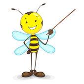蜂のプレゼンテーション — ストックベクタ