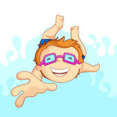 Kid in Swimming Pool — Stock Vector