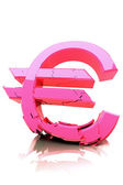 Breaking Euro Symbol — Stock Photo