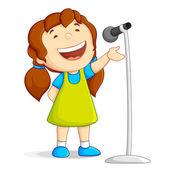 Singing Girl — Stock Vector