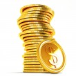 Stack of Dollar Gold Coin — Stock Photo