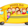 Children in School Bus — Stock Vector