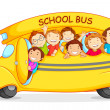 Stock Vector: Children in School Bus