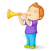 Boy with Bullhorn — Stock Vector