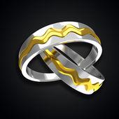 Par de anillos de oro — Foto de Stock